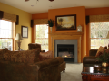 Gas fireplace adds heat and ambience