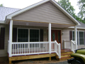 Customize the dimensions and pitch of your covered porch.